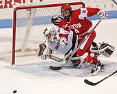 Beth Larcom (Harvard - 31), Maddie Elia (BU - 14) - The Harvard University Crimson tied the Boston University Terriers 6-6 on Monday, February 7, 2017, in the Beanpot consolation game at Matthews Arena in Boston, Massachusetts.