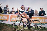 Elite Men CX World Champion Wout van Aert (BEL/Cibel-Cebon)<br /> <br /> GP Mario De Clercq / Hotond cross 2018 (Ronse, BEL)<br /> photo ©kramon