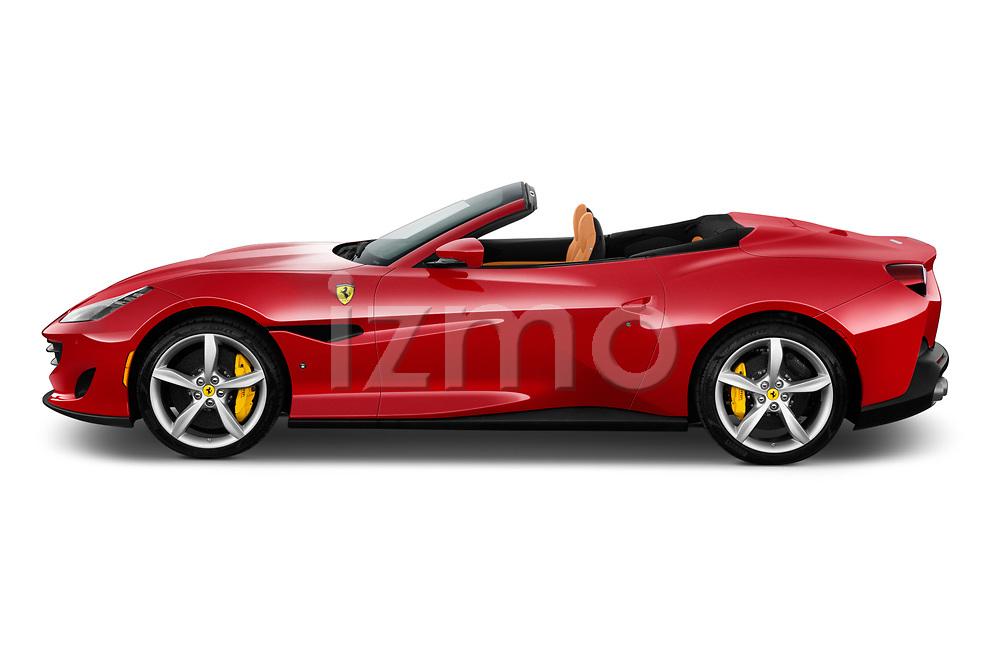 Car driver side profile view of a 2018 Ferrari Portofino base 2 Door Convertible