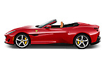 Car driver side profile view of a 2018 Ferrari Portofino base 2 Door Convertible