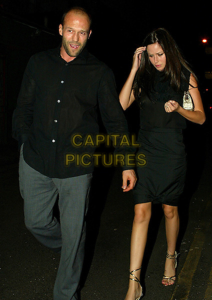 JASON STATHAM & GIRL.After Concert & Birthday Bash At Lounge Lovers Club, London, UK..August 17th, 2006.Ref: FEE.full length black dress shirt grey gray trousers.www.capitalpictures.com.sales@capitalpictures.com.©Capital Pictures.