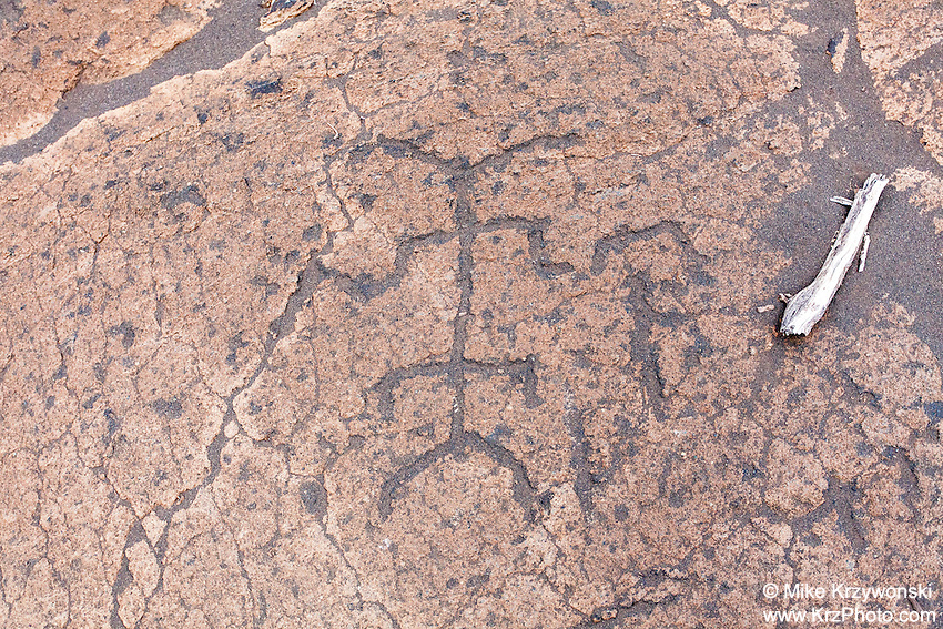 Hawaiian petroglyphs at Puako Petroglyph Park, Big Island, Hawaii