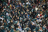 Philadelphia Eagles fans fill the stands for the game against the Washington Redskins at FedEx Field in Landover, Maryland on December 30, 2018.  The Eagles won the game 24 - 0 and their victory coupled with the Viking loss allowed them to advance to the NFC playoffs.<br /> Credit: Ron Sachs / CNP
