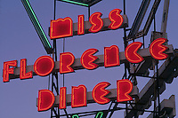 Miss Florence Diner sign, neon, Florence, MA (1941)