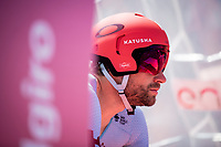 Marco Haller (AUT/Katusha-Alpecin) on the start podium<br /> <br /> Stage 21 (ITT): Verona to Verona (17km)<br /> 102nd Giro d'Italia 2019<br /> <br /> ©kramon