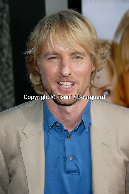 Owen Wilson arriving at the YOU, ME AND DUPREE Premiere at the Arclight Theatre  In Los Angeles. July 10,  2006.<br /> head shot