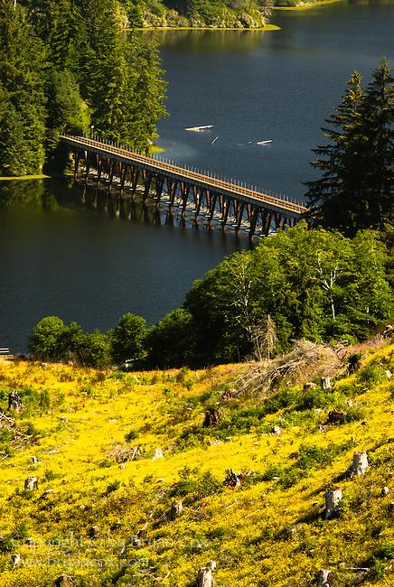 Trestle over Tahkenitch lake, Oregon