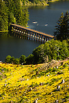 Trestle over Tahkenitch lake, Oregon