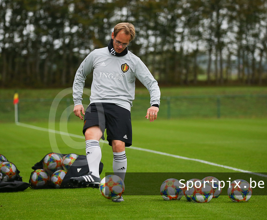 20191006 TUBIZE: Red Flames keeper trainer Sven Cnudde is pictured at the Open Training of Red Flames on Sunday 6th of October 2019, Tubize, Belgium PHOTO SPORTPIX.BE | SEVIL OKTEM