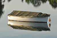 Boat Moored In Moruya River, New South Wales, Australia