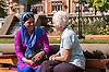 Two women talking as part of a Multi cultural mentoring scheme in Sheffield
