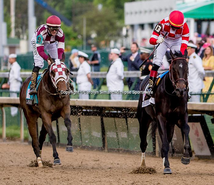 May 3, 2019 : Serengeti Empress, #13, ridden by Jose L Ortiz, wins the Longines Kentucky Oaks on Kentucky Oaks Day at Churchill Downs on May 3, 2019 in Louisville, Kentucky. Carolyn Simancik/Eclipse Sportswire/CSM