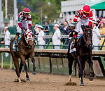 May 3, 2019 : Serengeti Empress, #13, ridden by Jose L Ortiz, wins the Longines Kentucky Oaks on Kentucky Oaks Day at Churchill Downs on May 3, 2019 in Louisville, Kentucky. Carolyn Simancik/Eclipse Sportswire/CSM