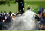 AUGUSTA, GA- APRIL 13:  Stewart Cink hits out of the green bunker on the 7th hole during a the final round of the 2008 Masters on April 13, 2008 at Augusta National Golf Club in Augusta, Georgia. (Photo by Donald Miralle)