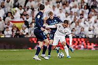 23rd November 2019; Estadio Santiago Bernabeu, Madrid, Spain; La Liga Football, Real Madrid versus Real Sociedad; Eden Hazard (Real Madrid) takes on Martin Odegaard (Real Sociedad) - Editorial Use