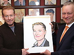 Richard Roxburgh and Max Klimavicius attend the Cate Blanchett and Richard Roxburgh Caricature Unveiling at Sardi's on March 14, 2017 in New York City.