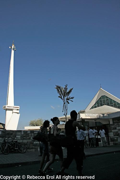 The modern Kinaliada mosque on Kinaliada, Istanbul, Turkey