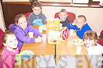 AWARD: The Breakfast Club at the Iveragh Family Resource Centre, which is in the running for the AIB Better Ireland Award, l-r: Leanne Ferris, Saoirse Fitzgerald, Darragh O'Sullivan, Dylan Francis, Cian Naylor, Alana O'Sullivan.   Copyright Kerry's Eye 2008