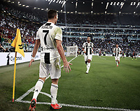 Calcio, Serie A: Juventus - Genoa, Turin, Allianz Stadium, October 20, 2018.<br /> Juventus' Cristiano Ronaldo celebrates after scoring during the Italian Serie A football match between Juventus and Genoa at Torino's Allianz stadium, October 20, 2018.<br /> UPDATE IMAGES PRESS/Isabella Bonotto