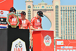 Tom Dumoulin (NED) Team Sunweb signs on before the start of Stage 4 of the 2019 UAE Tour, running 197km form The Pointe Palm Jumeirah to Hatta Dam, Dubai, United Arab Emirates. 26th February 2019.<br /> Picture: LaPresse/Massimo Paolone | Cyclefile<br /> <br /> <br /> All photos usage must carry mandatory copyright credit (© Cyclefile | LaPresse/Massimo Paolone)