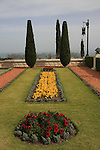 Israel, Haifa. The Bahai Garden on Mount Carmel