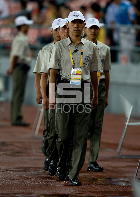 Olympic Security. The USWNT defeated Japan, 4-2, during the semi-finals of the Beijing 2008 Olympics in Beijing, China.