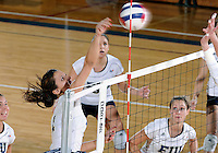 Florida International University women's volleyball player Andrea Lakovic (1) plays against Florida Atlantic University.  FIU won the match 3-0 on October 26, 2011 at Miami, Florida. .