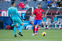 CARSON, CA - FEBRUARY 1: GK Esteban Alvarado #1 and Giancarlo Gonzalez #3 of Costa Rica during a game between Costa Rica and USMNT at Dignity Health Sports Park on February 1, 2020 in Carson, California.
