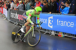 Patrick Bevin (NZL) Cannondale Drapac in action during Stage 1, a 14km individual time trial around Dusseldorf, of the 104th edition of the Tour de France 2017, Dusseldorf, Germany. 1st July 2017.<br /> Picture: Eoin Clarke | Cyclefile<br /> <br /> <br /> All photos usage must carry mandatory copyright credit (&copy; Cyclefile | Eoin Clarke)