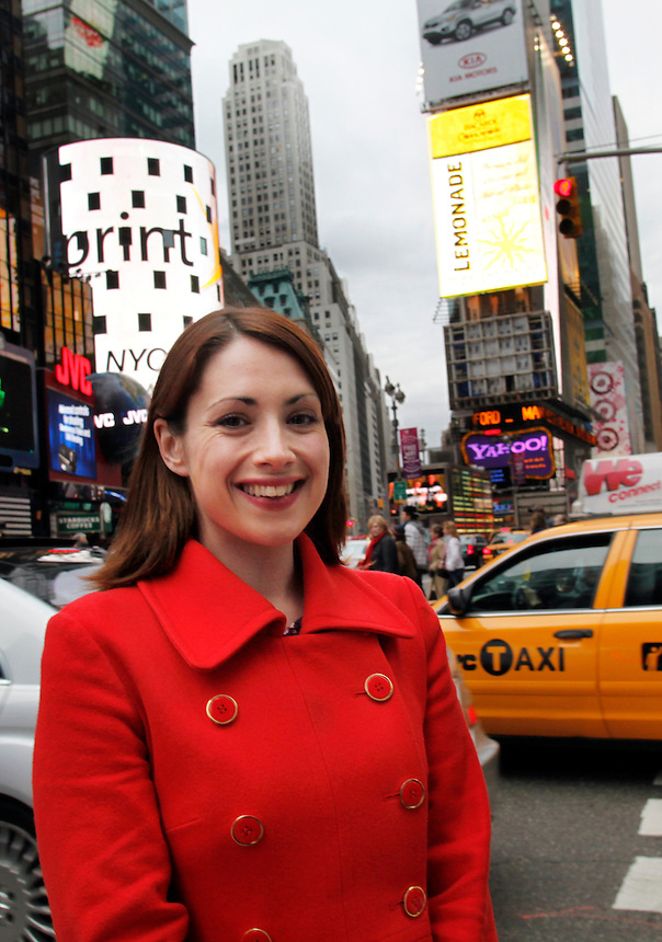English playwright, Lucy Prebble in New york CIty April 17, 2010.