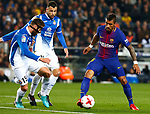 25th September 2018, Camp Nou, Barcelona, Spain; Copa del Rey football, quarter final, second leg, Barcelona versus Espanyol; Paulinho control the ball