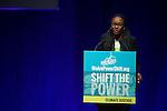 Tiffany Loftin, Powershift co-ordinator for Energy Action Coalition introduces Phillip Agnew at Powershift 2013. (Photo by: Robert van Waarden)