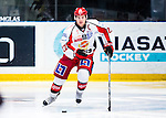 Stockholm 2013-12-28 Ishockey Hockeyallsvenskan Djurg&aring;rdens IF - Almtuna IS :  <br /> Almtuna Daniel Hermansson i aktion <br /> (Foto: Kenta J&ouml;nsson) Nyckelord:  portr&auml;tt portrait