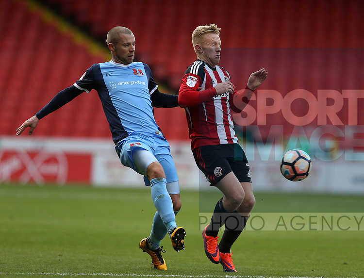 Mark Duffy of Sheffield Utd during the Emirates FA Cup Round One match at Bramall Lane Stadium, Sheffield. Picture date: November 6th, 2016. Pic Simon Bellis/Sportimage