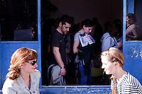 Milano 13-04-2013: visitatori nella zona di Ventura Lambrate durante il Salone del Mobile 2013..Milan: visitors at Ventura Lambrate  zone during the Milan Design Week 2013