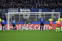 6th November 2019, Milan, Italy; UEFA Champions League football, Atalanta versus Manchester City; <br /> Gabriel Jesus of Manchester City misses a penalty for Manchester City