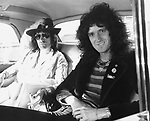 Queen 1975 Freddie Mercury and  Brian May.© Chris Walter.