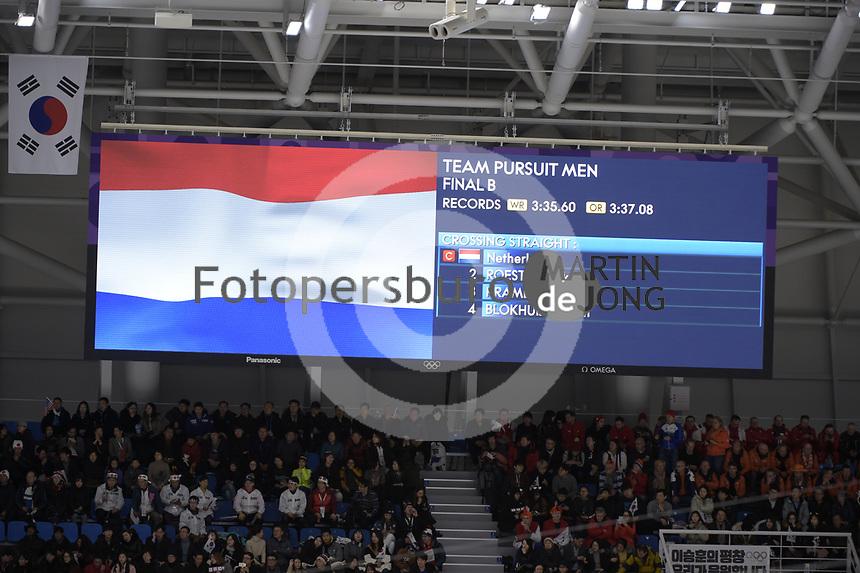 OLYMPIC GAMES: PYEONGCHANG: 21-02-2018, Gangneung Oval, Long Track, Team Pursuit, ©photo Martin de Jong