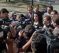 SAO PAULO, SP, 15 DE FEVEREIRO 2012 - JULGAMENTO LINDEMBERG ALVES - CASO ELOA - A advogada Lucia Assad, chega ao Fórum de Santo André, no Grande ABC paulista, no terceiro e provável último dia do júri do caso Eloá. Ele é acusado pela morte da ex- namorada Eloá Cristina Pimentel, de 15 anos, em um conjunto habitacional de Santo André, em outubro de 2008. (FOTO: ADRIANO LIMA - BRAZIL PHOTO PRESS).