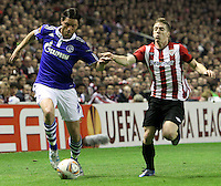 5.04.2012 Bilbao, Spain. Uefa Europa League. Picture show Hoogland in action during match between Athletic Club against Shalke 04 at San Mames stadium