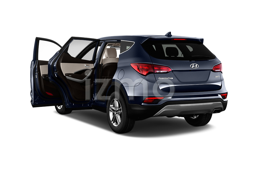 Car images close up view of a 2018 Hyundai Santa Fe Sport Base 5 Door SUV doors