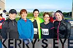 Paula Lucey, Carmel Twiss, Evelyn King, Geraldine Galvin and Michaela O'Sullivan who ran in the Puck Warriors race in Killorglin on Saturday morning