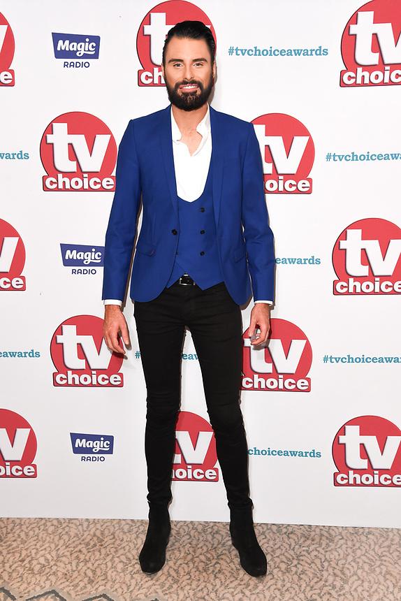 Rylan Clarke<br /> arriving for the TV Choice Awards 2017 at The Dorchester Hotel, London. <br /> <br /> <br /> ©Ash Knotek  D3303  04/09/2017