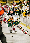 15 November 2015: University of Vermont Catamount Forward Tom Forgione, a Junior from South Burlington, VT, in second period action against the University of Massachusetts Minutemen at Gutterson Fieldhouse in Burlington, Vermont. The Minutemen rallied from a three goal deficit to tie the game 3-3 in their Hockey East matchup. Mandatory Credit: Ed Wolfstein Photo *** RAW (NEF) Image File Available ***