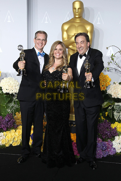 02 March 2014 - Hollywood, California - Peter Del Vecho, Jennifer Lee, Chris Buck. 86th Annual Academy Awards held at the Dolby Theatre at Hollywood &amp; Highland Center. <br /> <br /> CAP/ADM/RE<br /> &copy;Russ Elliot/AdMedia/Capital Pictures