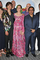 "Sebastian Croft, Kate Nash and Sanjeev Bhaskar at the ""Horrible Histories: The Movie - Rotten Romans"" world film premiere, Odeon Luxe Leicester Square, Leicester Square, London, England, UK, on Sunday 07th July 2019.<br /> CAP/CAN<br /> ©CAN/Capital Pictures"