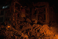 Collapsed buildings in Bhaktapur, near Kathmandu, Nepal. May 04, 2015