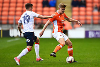 Blackpool's Brad Potts in action<br /> <br /> Photographer Richard Martin-Roberts/CameraSport<br /> <br /> The EFL Sky Bet League Two Play-Off Semi Final First Leg - Blackpool v Luton Town - Sunday May 14th 2017 - Bloomfield Road - Blackpool<br /> <br /> World Copyright &copy; 2017 CameraSport. All rights reserved. 43 Linden Ave. Countesthorpe. Leicester. England. LE8 5PG - Tel: +44 (0) 116 277 4147 - admin@camerasport.com - www.camerasport.com