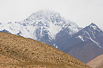 Snow-covered peak, Sarychat-Ertash Strict Nature Reserve, Tien Shan Mountains, eastern Kyrgyzstan