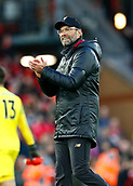 9th February 2019, Anfield, Liverpool, England; EPL Premier League football, Liverpool versus AFC Bournemouth; Liverpool manager Jurgen Klopp applauds the Kop after the final whistle